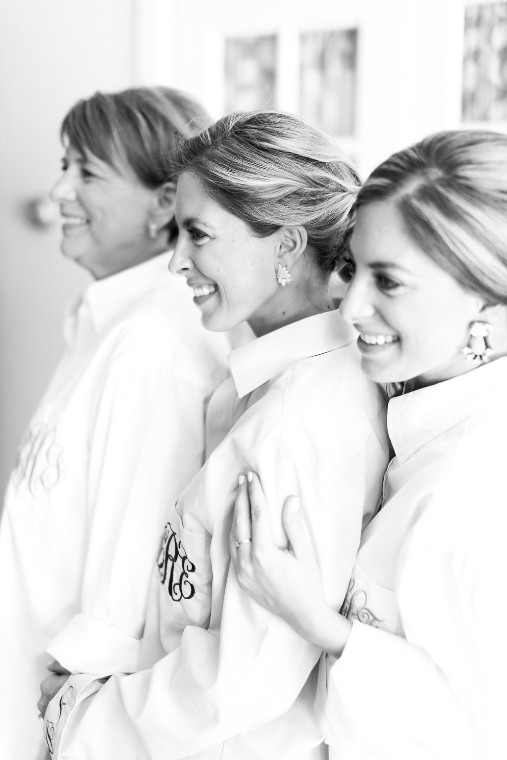 Getting Ready Monogram Wedding Shirts