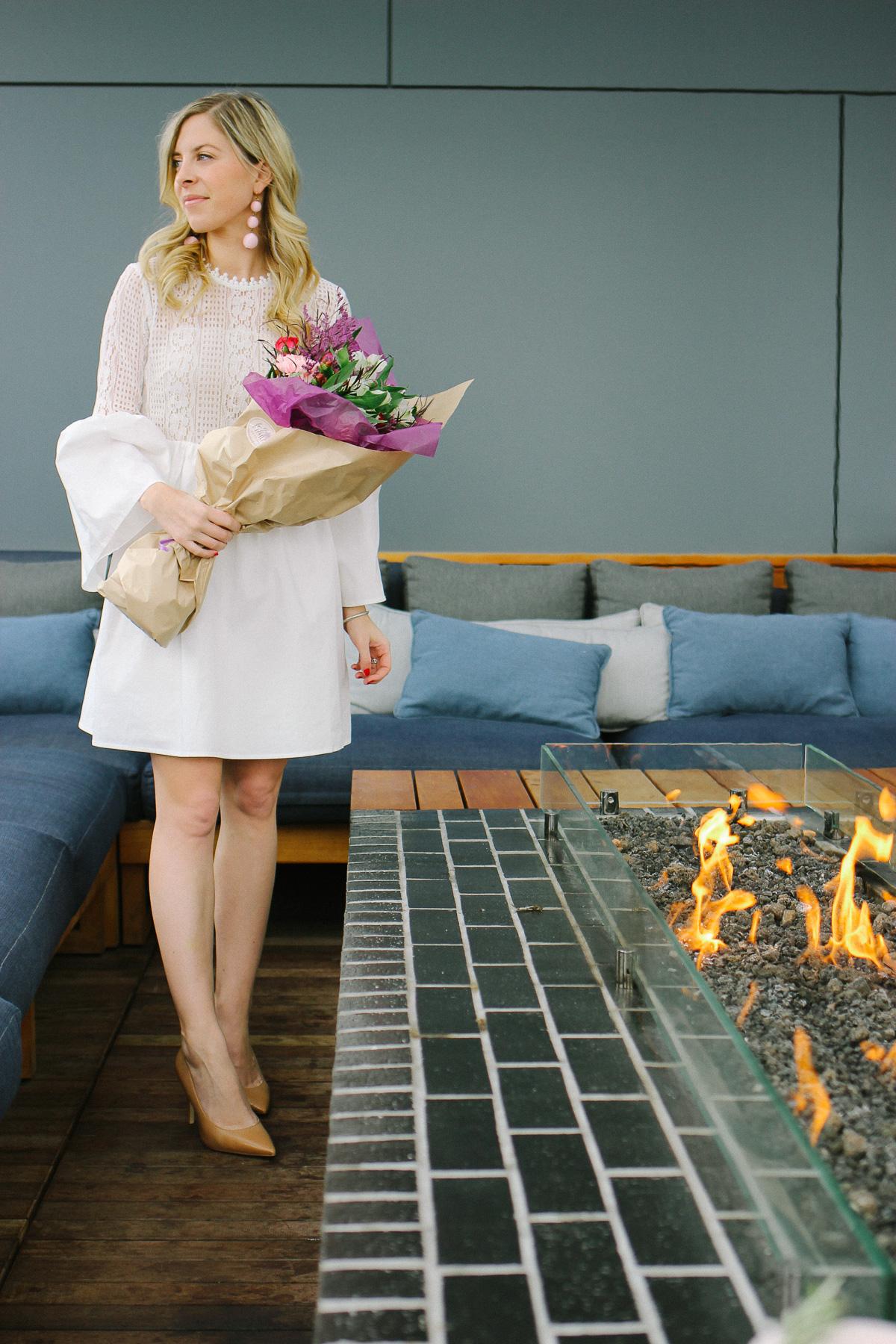 Valentine's Day Little White Dress