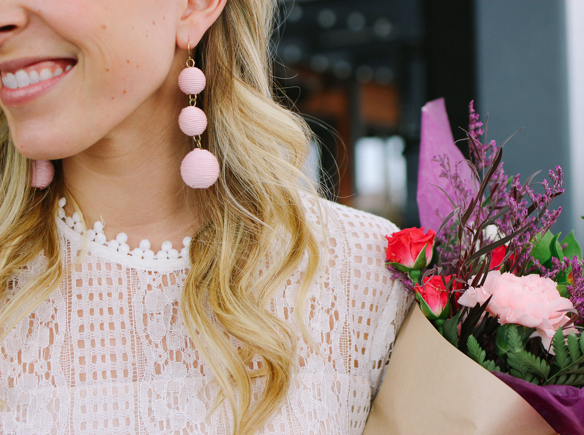 Valentine's Day White and Pink Outfit