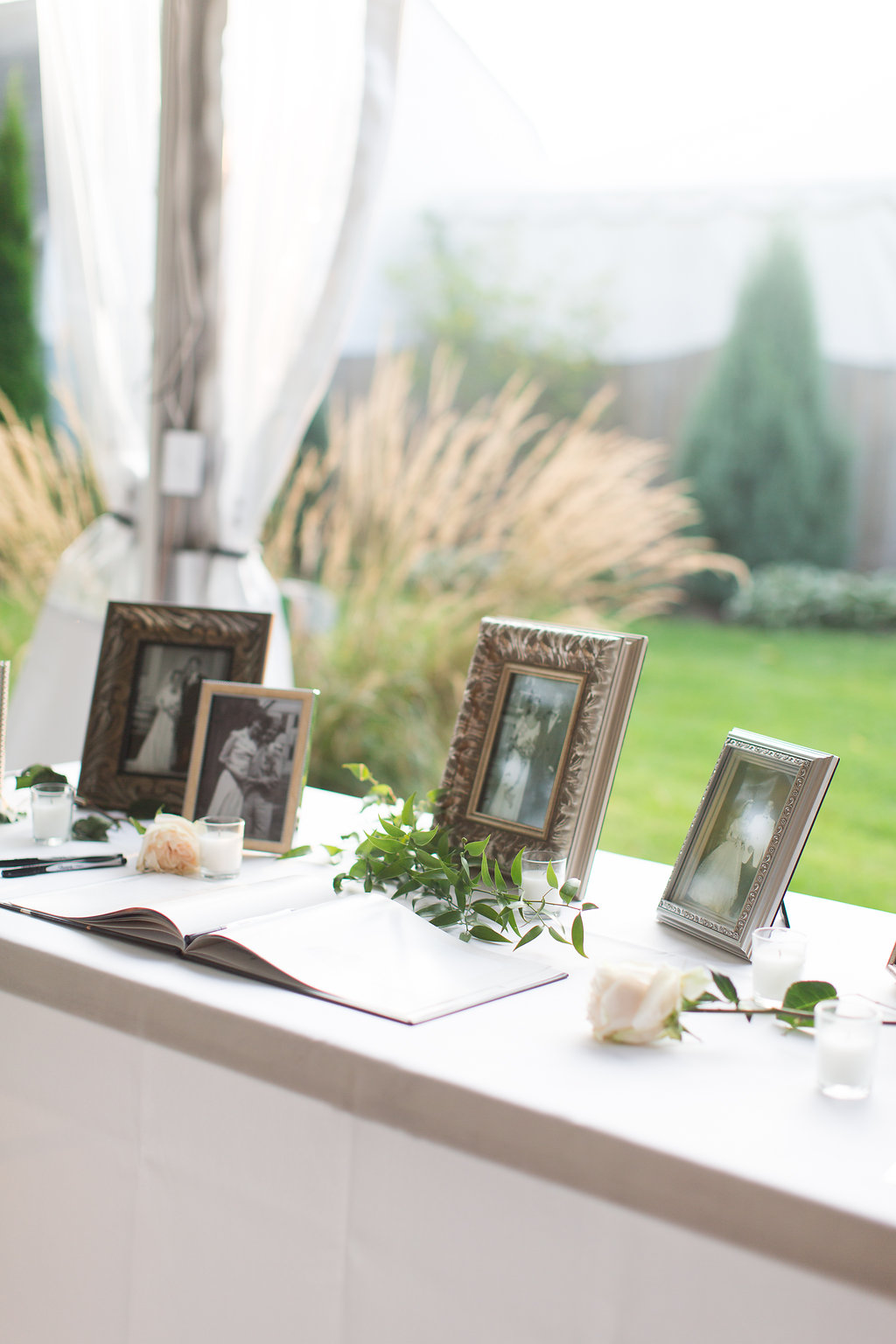 Outdoor Wedding Guest Book Table