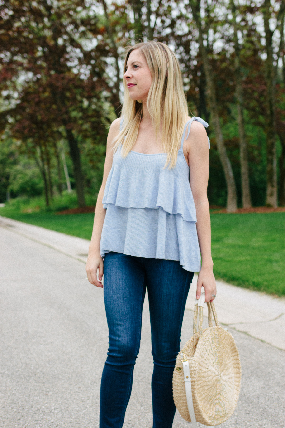 J.Crew Tiered Ruffle Top