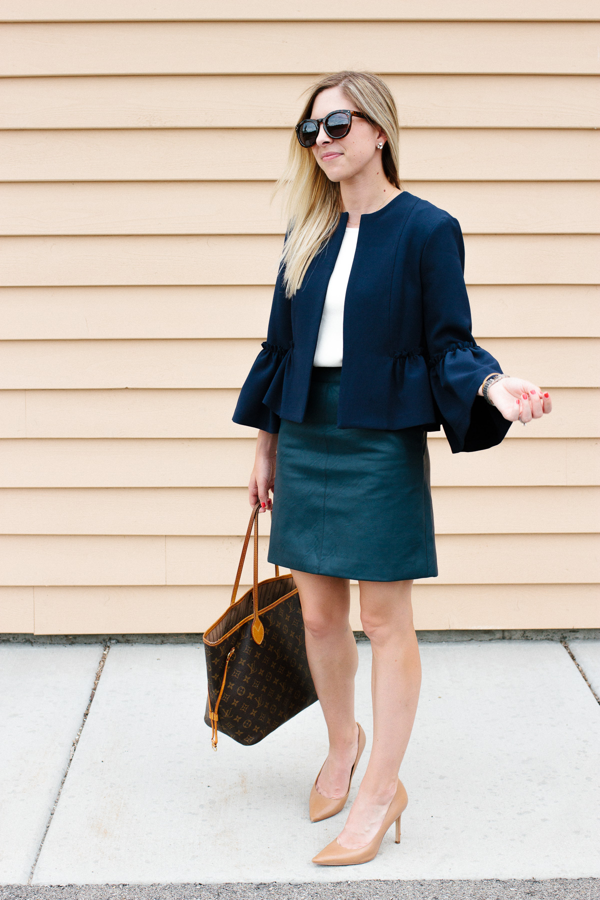 How to Style a Faux Leather Skirt for Work - Fifth & Rose