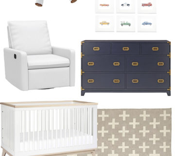 Baby Boy Nursery Inspiration